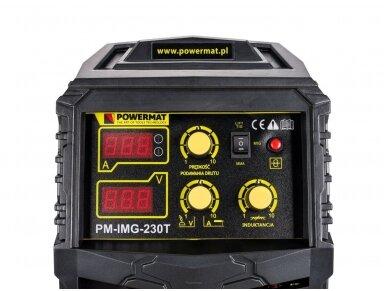 Powermat suvirinimo pusautomatis PM-IMG-230T, 230A, 230V, MIG/MAG/TIG/MMA 8
