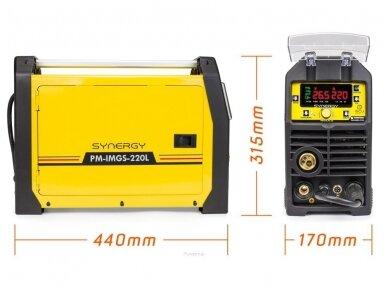 Powermat suvirinimo pusautomatis PM-IMGS-220L SYNERGY, 220A, 230V, MIG/MAG/MMA/LIFT-TIG 9