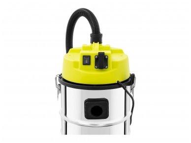 Pramoninis dulkių siurblys FLOORCLEAN 30FS, 30 l, 1400 W, neaustinis filtras 3