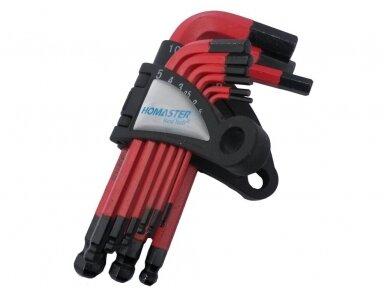 Šešiakampių raktų komplektas 1.5-10mm Cr-V, 9vnt. 2