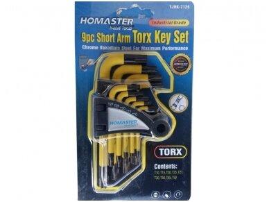 Šešiakampių raktų komplektas TORX 9vnt, CR-V, T10-50 2