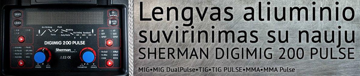 Sherman DIGIMIG200Pulse pusautomatis su dvigubu pulsu