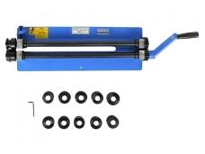 Skardos valcavimo staklės 1.21 mm, komplekte antgaliai skardos kraštų valcavimui