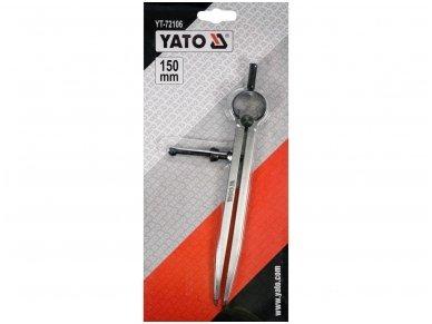 Slankmatis žymeklis / daliklis su varžtu | 150 mm 3