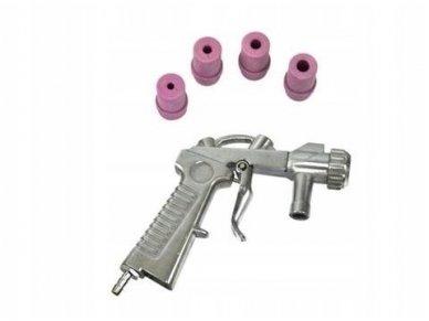 Smėliapūtės pistoletas su 4 antgaliais
