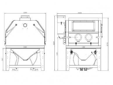 BASS POLSKA smėliavimo kamėra 1200L su filtru 5