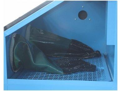 BASS POLSKA kompaktiška smėliavimo kabina 120L su apšvietimu 4