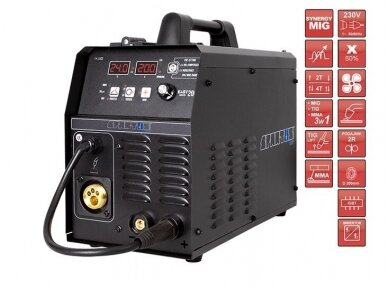 Spartus EasyMIG 200 suvirinimo pusautomatis, 200A, 230V