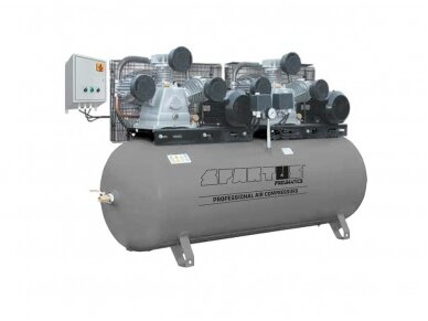 Spartus stūmoklinis kompresorius SP 1900-2X5.5/500, 500l, 400V