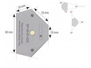 Spartus suvirinimo magnetas, apkrova 11kg