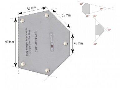 Spartus suvirinimo magnetas, apkrova 22kg