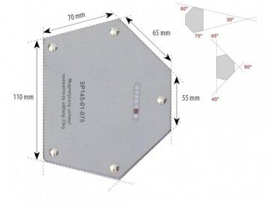 Spartus suvirinimo magnetas, apkrova 33kg