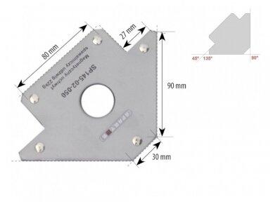 Spartus suvirinimo magnetas, rodyklės tipo, apkrova 22kg