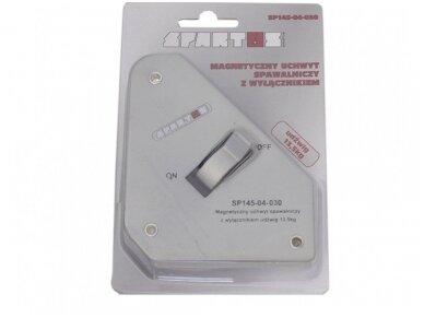 Spartus suvirinimo magnetas su išjungimu, apkrova 13,5kg 2