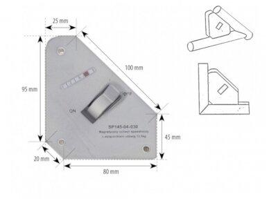 Spartus suvirinimo magnetas su išjungimu, apkrova 13,5kg