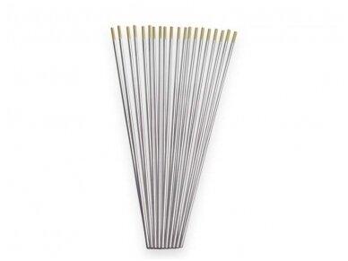 Spartus volframinis elektrodas (WL15 auksinis), 175mm