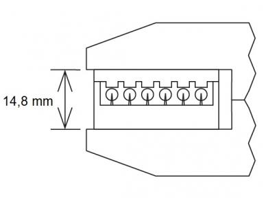 Specifinių kontaktų presavimo replės su lygiagrečiu lupų judėjimu, be matricų 2