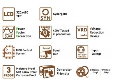 WTL MIG 200 LCD Synergic Suvirinimo aparatas, 200A, 230V 7
