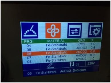 WTL MIG 200 LCD Synergic Suvirinimo aparatas, 200A, 230V 3