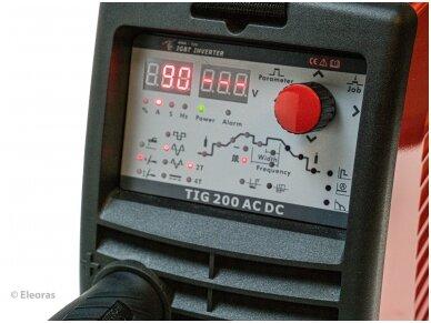 WTL TIG 200 AC/DC Pulse JOB Suvirinimo aparatas, 200A, 230V 8