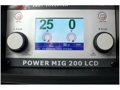 WTL POWER MIG200LCD  Suvirinimo pusautomatis, 200A, 230V 3