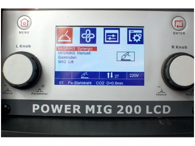 WTL POWER MIG200LCD  Suvirinimo pusautomatis, 200A, 230V 4