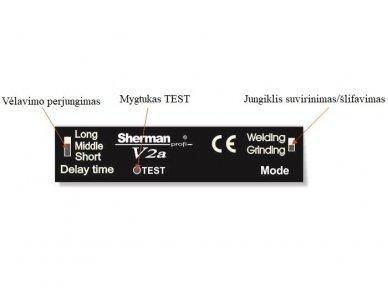 Suvirinimo skydelis Sherman-profi V2a, juodas 2
