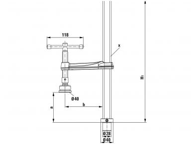 Suvirinimo stalo spaustuvas Bessey TWM28 su specialia atramine plokšte 3