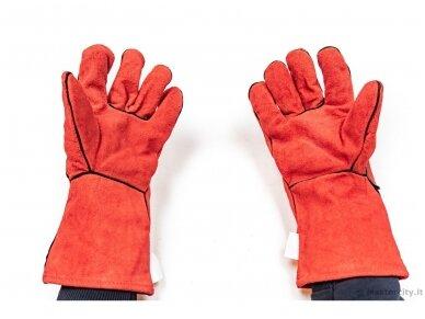Перчатки для сварщиков из вывернутой кожи, размер 10