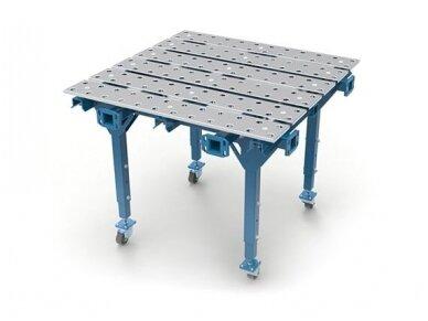 Viengubas modulinis suvirinimo stalas, storis 15 mm, skylės skersmuo 28 mm