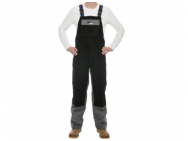 WELDAS welder trousers with chest protection, size XXL